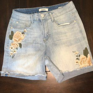 Kenzie Jeans Denim Embroidery Shorts Size 2